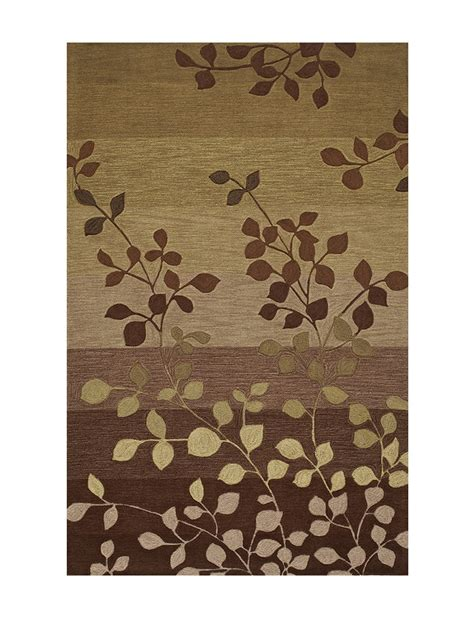 Earth Tone Area Rugs Dalyn Rugs Studio Plush Collection Earth Tone Leaf Print Area Rug Stage Stores