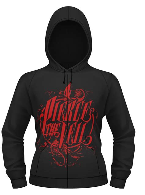 Hoodie Zipper Veil Of Logo Fightmerch the veil logo womens zip up hoodie new official ebay