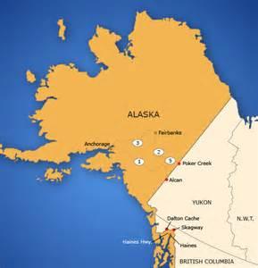 alaska canada map canada map