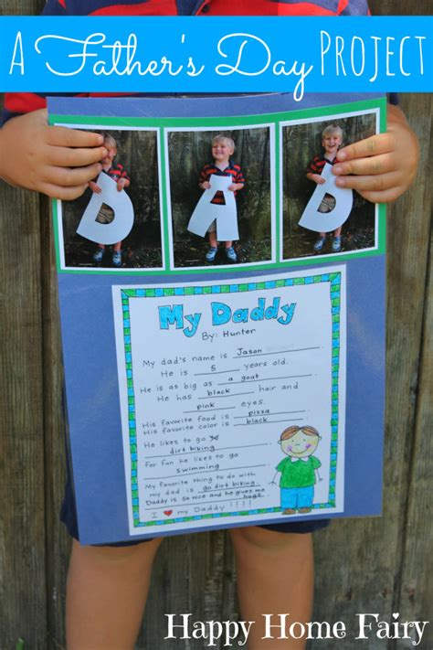 fathers day project a s day project free printable happy home