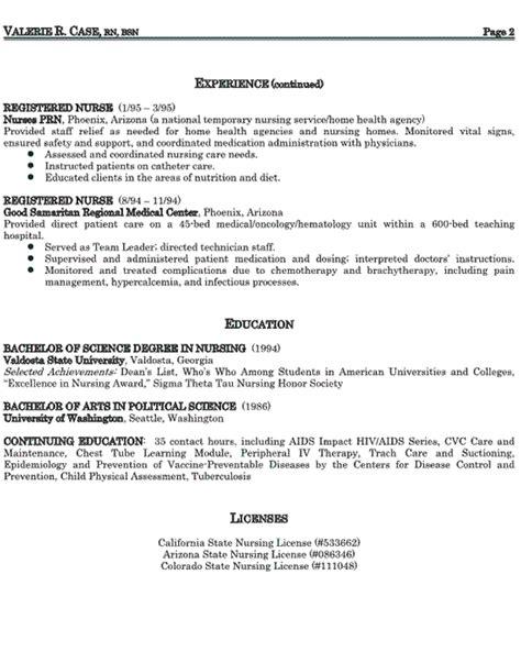 example of a good nursing resume 2 - Good Nursing Resume Examples