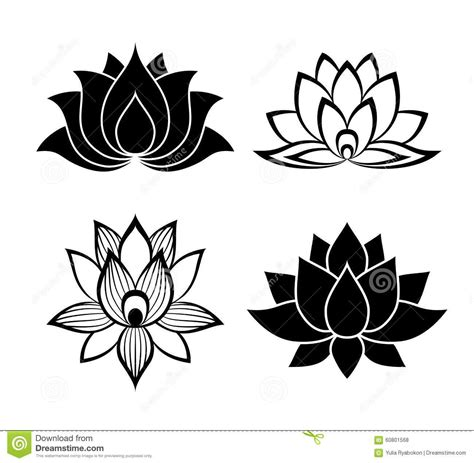 lotus flower tattoo designs free sinais da flor de lotus ajustados ilustra 231 227 o do vetor