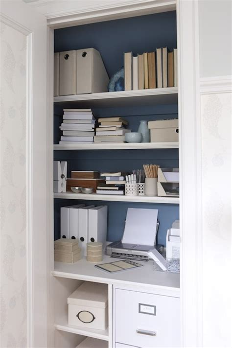 Office Desk In Closet Closet Desk Transitional Den Library Office Para