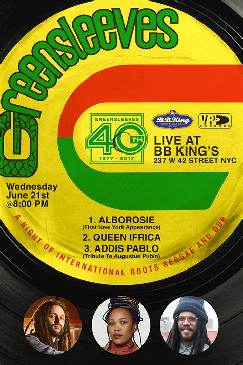 New York City Records Italian Tomorrow Greensleeves Celebrates 40th Anniversary With Concert In New York City Vp