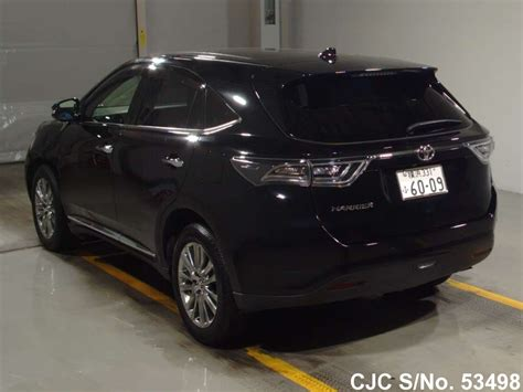 used toyota harrier picture image 2014 toyota harrier black for sale stock no 53498