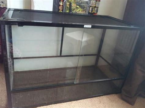 Vivarium Glass Doors Glass Vivarium 3ft Length 2 Ft High Mesh Roof Chester Le County Durham Pets4homes