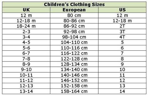 european kid shoe sizes size chart european clothing sizes europe