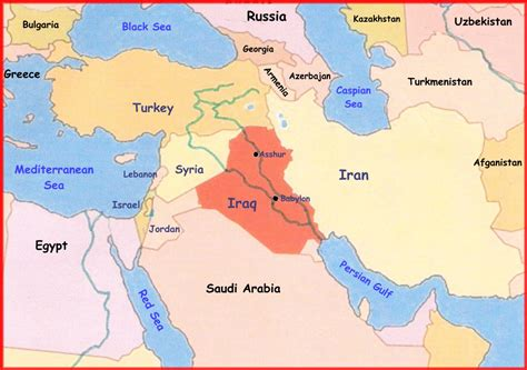 middle east map babylon and the king of assyria