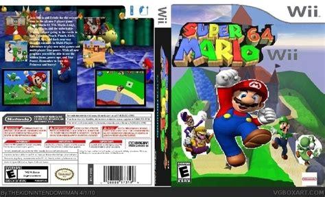 Super Mario 64 Ds Wii   super mario 64 wii wii box art cover by thekidnintendowiiman