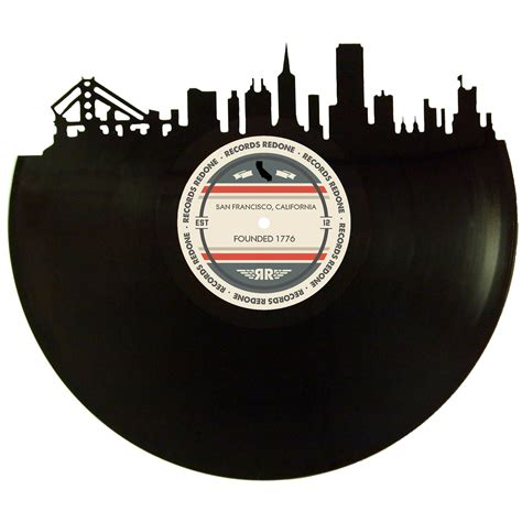 San Francisco Records San Francisco Skyline Records Redone Label Vinyl Record