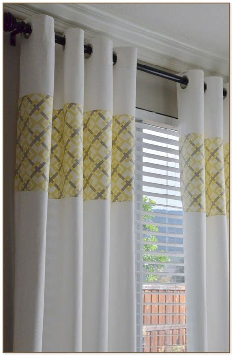 yellow window curtains grey and yellow window curtains