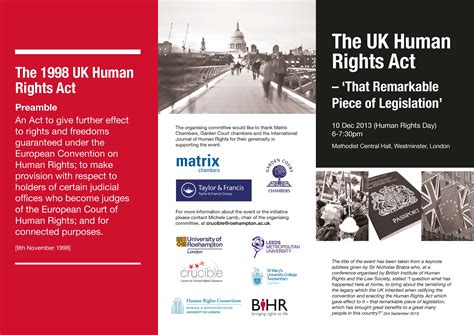 section 3 of the human rights act 1998 what event occured to make the human rights act 1998 be