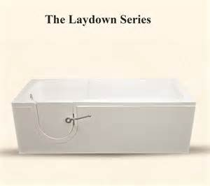 the laydown series walk in bathtub