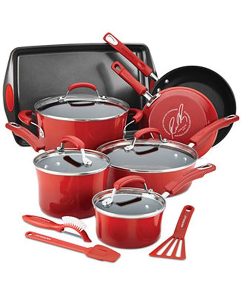 Rachael Ray 14 Pc Nonstick Cookware Set Only At Macy S Rachael Kitchen Set