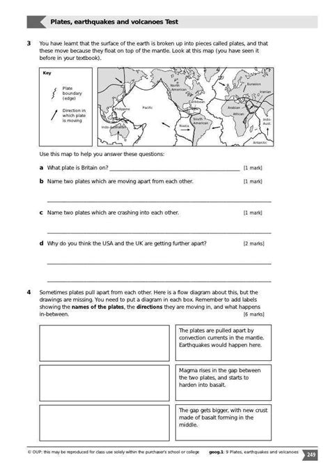 volcanoes and plate tectonics worksheet photos roostanama