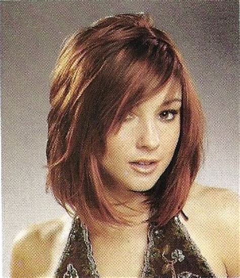 swing bob with bangs layered bob hair stuff pinterest