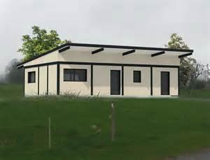 maison de plain pied 224 ossature bois et toit plat nos