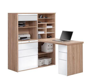rangements de bureau bureau contemporain avec rangement ch 234 ne sonoma blanc