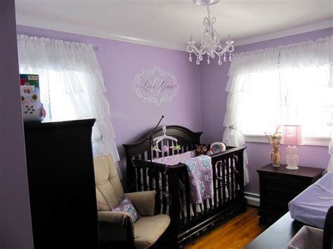 Ruffled Curtains Nursery Baby Nursery Black Crib Ruffled Curtains And Chandeliers