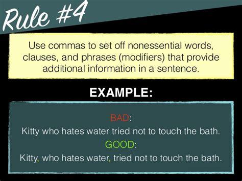 comma use grammar comma use