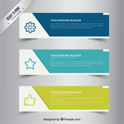 design banner freepik business banners vector free download