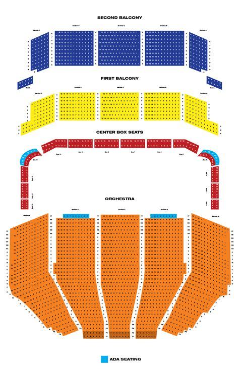 keller auditorium seat map keller auditorium theaters broadway in portland