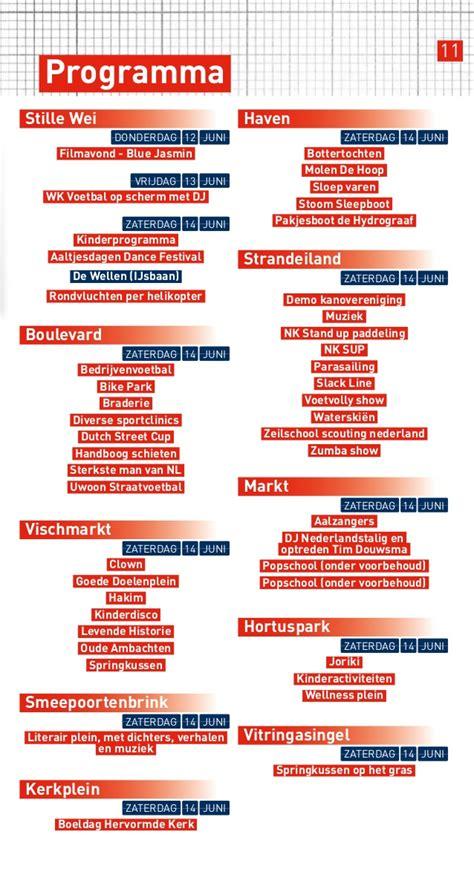 kinderprogramma sleepboot harderwijk aaltjesdagen magazine 2014