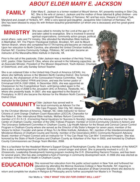 pastor bio template pastor bio exles images search