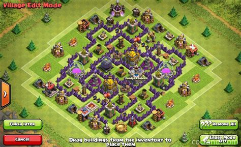 townhall 7 base discindo labyrinth farming base for town hall 7 clash