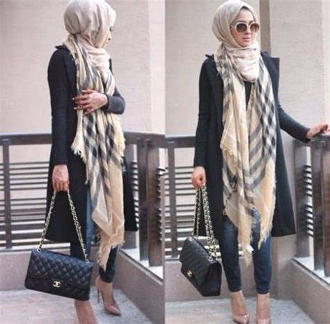 Ikn Dress Muslim Burbery burberry scarf style looks by sincerely