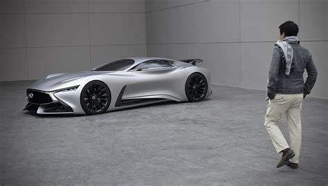 infiniti vision gt displayed outside its world