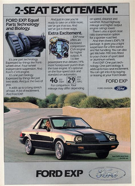 1986 ford exp information and photos momentcar 1987 ford exp information and photos momentcar