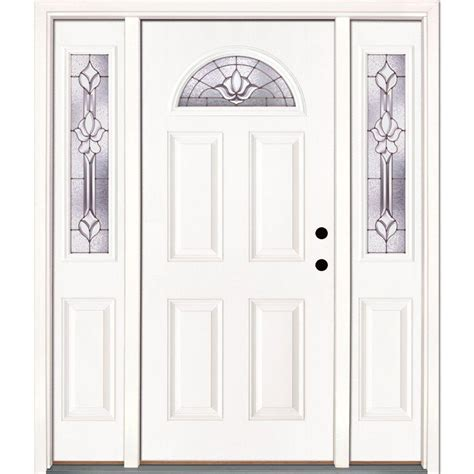 Feather River Doors 66 In X 81 625 In Rochester Patina Home Depot Exterior Doors Prices