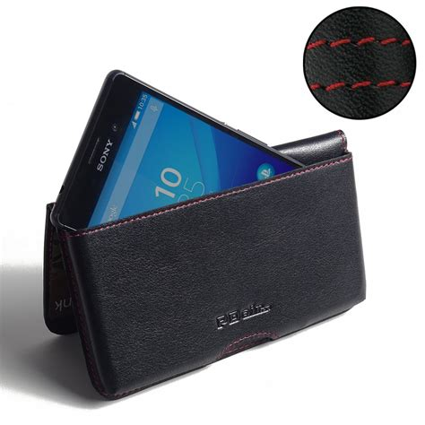 Sony Pouch Xperia M 1 sony xperia m4 aqua leather wallet pouch stitch pdair