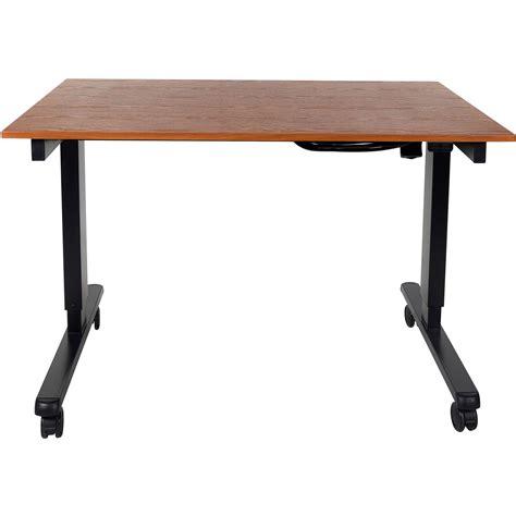 luxor 48 electric standing desk luxor 48 quot electric standing desk stande 48 bk tk b h photo