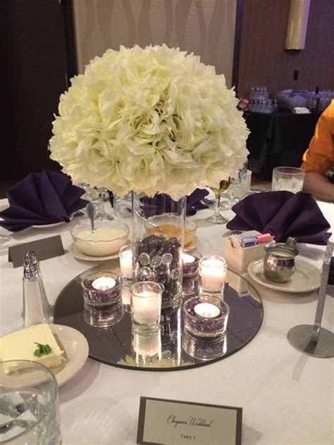 Diy Silk Floral And Candle Centerpiece Weddingbee Photo Silk Flower Wedding Centerpieces