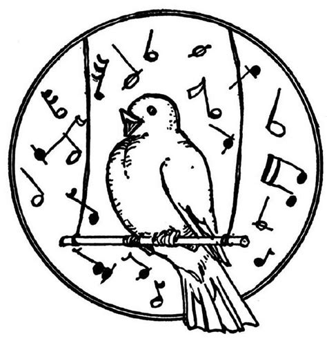 coloring pages of birds singing birds singing colouring pages