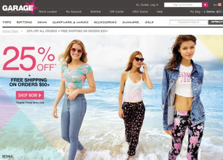 Garage Clothing Canada Website Garage S Day Special 25 Free Shipping