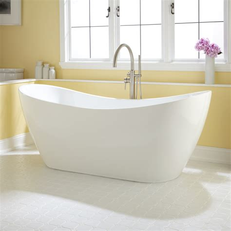 freestanding acrylic bathtubs signature hardware 72 quot sheba acrylic double slipper tub ebay