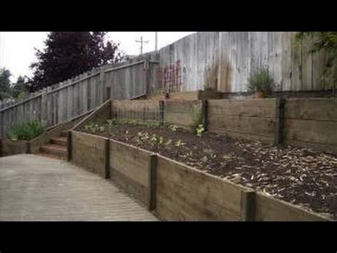 How To Build A Retaining Wall For Cheap Garden Retaining How To Build A Garden Wall On A Slope