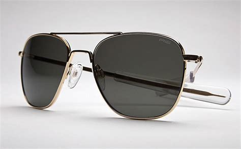 new randolph engineering re 52mm aviator sunglasses glass