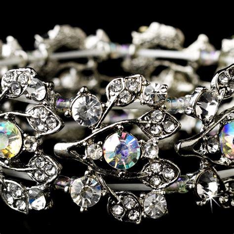 Silver Bracelets 930 antique silver clear ab bracelet 930