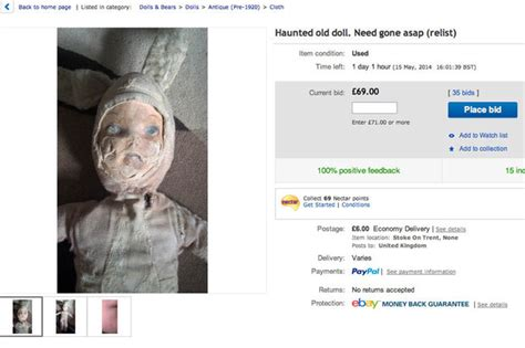 haunted doll from ebay for sale one haunted doll that scratches children