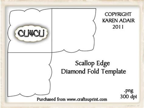 Scalloped Edge Large With Point Card Template by Scallop Edge Fold Card Template Cup189672 168
