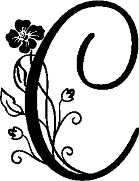 Alice In Wonderland Wall Stickers floral illustrated letter c decals and stickers the