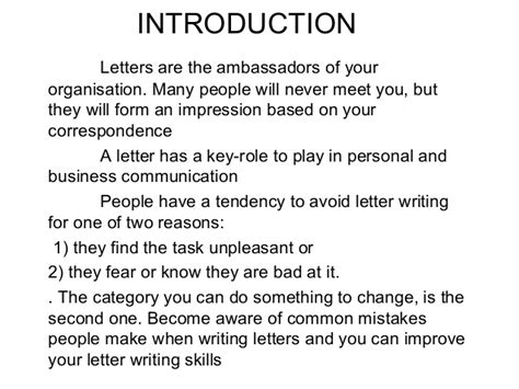 presentation letters for letter drafting ppt 15 feb