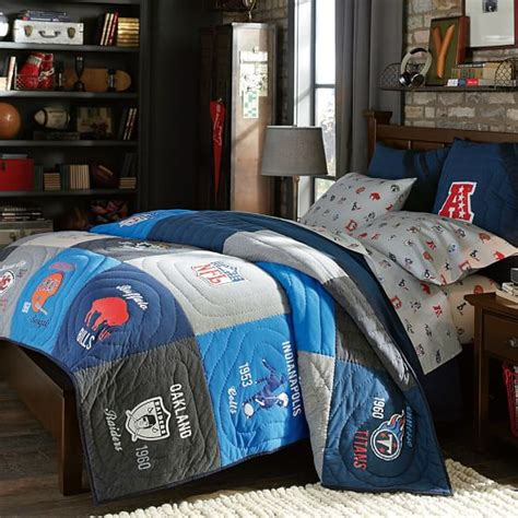 nfl bedding set nfl 174 historic quilt sham pbteen
