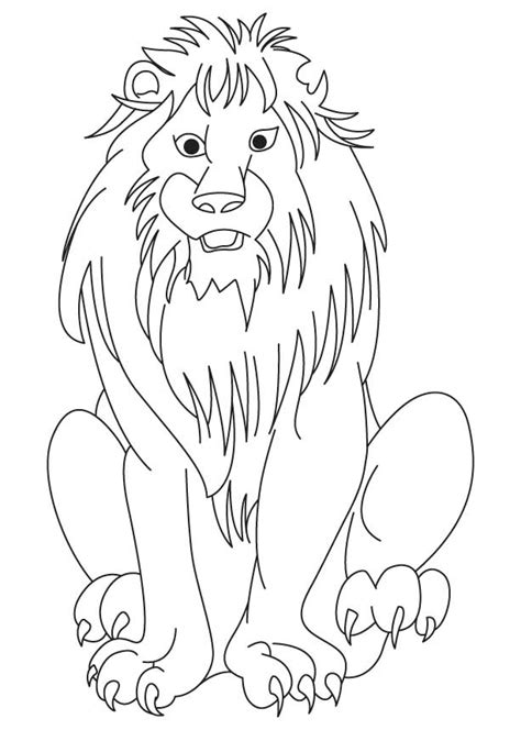 african lion coloring page download free african lion