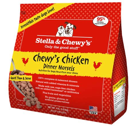 stella and chewy food stella chewy s chewy s chicken dinner morsels grain free frozen food 4lbs
