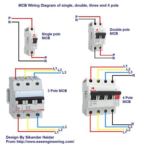 mcb wiring connection diagram 29 wiring diagram images